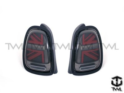 《※台灣之光※》全新MINI COOPER S F55 F57 14 15 16年英國國旗LED光柱紅黑底後燈尾燈組