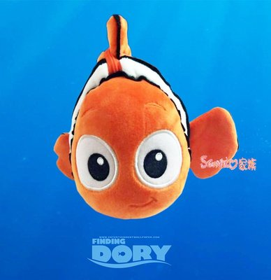 《東京家族》日本限定 迪士尼 海底總動員 尼莫 小丑魚 絨毛抱枕公仔零錢包
