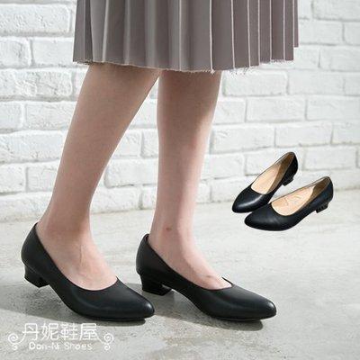 上班鞋 全真皮尖頭低跟 台灣手工鞋 丹妮鞋屋