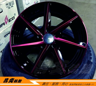 昌奕輪胎 KONIG KN22 KN-22 17吋 鋁圈 CIVIC8 CIVIC9 ACCORD K9 K11 K12 台南市