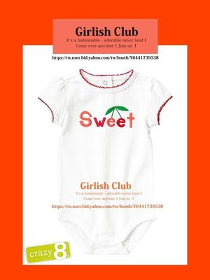 【Girlish Club】crazy 8女寶寶18-24m包屁衣連身衣(c309)carter's gap二七一元起標