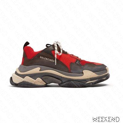 【WEEKEND】 BALENCIAGA Triple S 巴黎世家 休閒鞋 老爹鞋 紅色