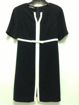 O'GIRL 歐德氣質高雅黑白撞色短袖洋裝