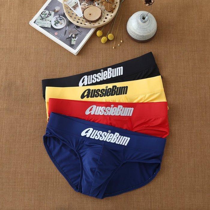 男低腰au男三角性感內褲 牛奶絲布料,仿泳褲設計讓你有水男孩的夏日熱情 藍/黑/白/黃共4色.M/L/XL~
