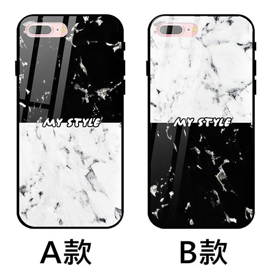 K&M 黑白紋路情侶 玻璃殼 IPHONE X XS MAX IPHONE8 IPHONE7 IPHONE6 手機殼
