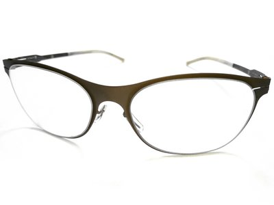 二手原廠正品 ic! berlin Model Aprikose 德國製中性時尚輕薄無螺絲設計金屬框眼鏡框鏡架