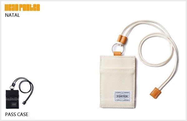 WaShiDa PLUS+【日本 HEAD PORTER NATAL 厚帆布 x皮革鞣制 證件 車票夾 】HP-1709