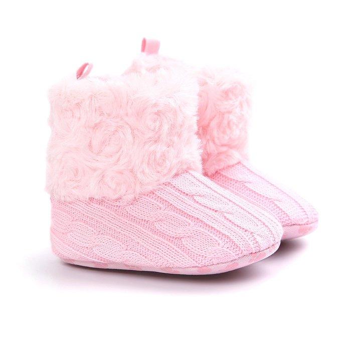 森林寶貝屋~特價~粉色毛毛靴子~學步鞋~幼兒鞋~寶寶鞋~保暖鞋~嬰兒鞋~雪鞋~棉鞋~童鞋~粘扣設計~彌月送禮