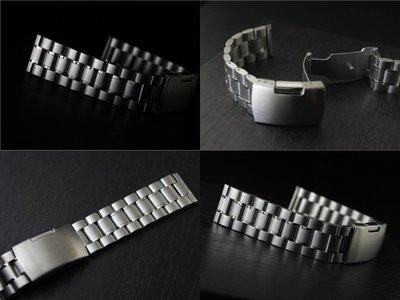 168錶帶配件 /超值亞米家sea master海馬 pro master 風格20mm平頭實心不鏽鋼製錶帶speed