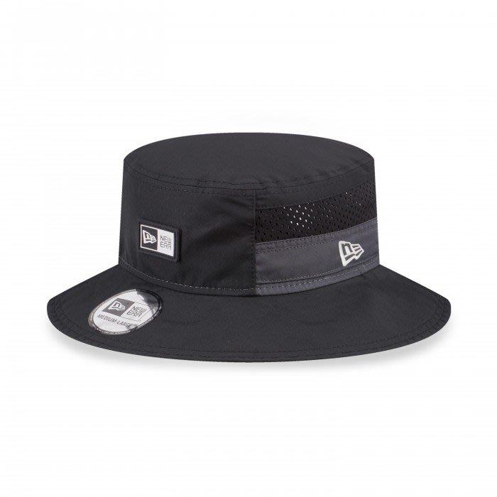 南◇2020 12月 NEW ERA 遮陽帽 奔尼帽 狩獵帽 漁夫帽 黑色 透氣 綁帶 NE12588077 戶外機能