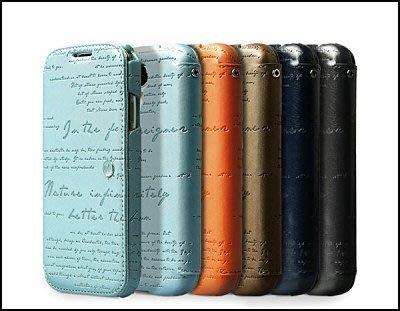 公司貨 Zenus Samsung GALAXY S4 i9500 天然著色羊皮 真皮套 保護套 保護殼