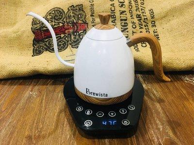 【魏拔拔咖啡烘焙】Brewista 珍珠白 1000ml溫控手沖壺 免運 - 另售1000ml玫瑰金一般手沖壺