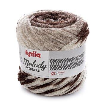 【免運費商品】Katia 美樂蒂緹花毛線 Melody Jacquard  90%羊毛【西班牙進口】