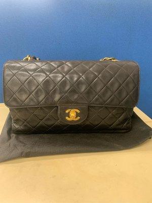 Chanel vintage 香奈兒單蓋 COCO 27CM 肩背包 鏈帶包 斜背包
