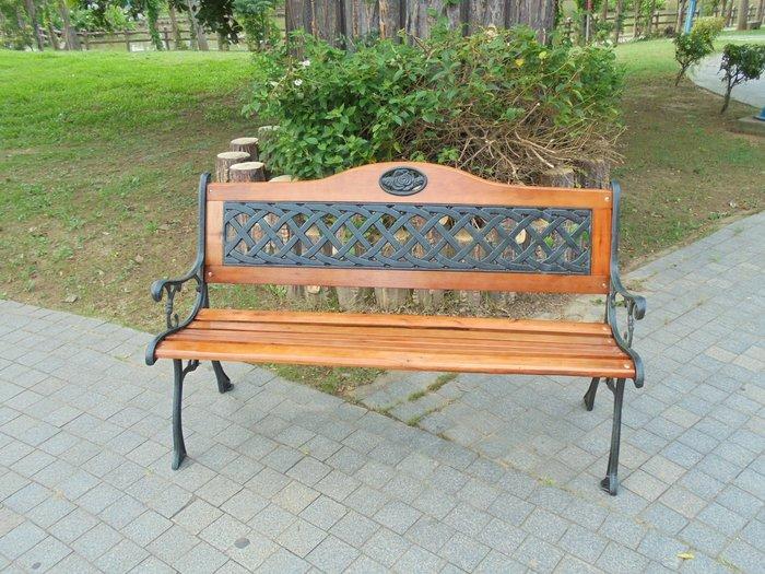[兄弟牌休閒戶外傢俱]歐式雙人花網鑄鐵公園椅(附椅背)~戶外家具~庭園休閒直購免運費!!