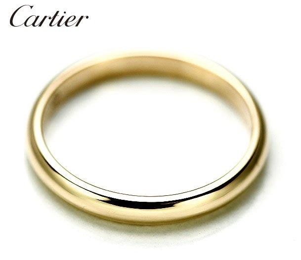 *保證真貨~知名品牌Cartier卡地亞-1895經典款婚戒 18K黃金戒(750) 歐洲圍47號 ~超低價起標