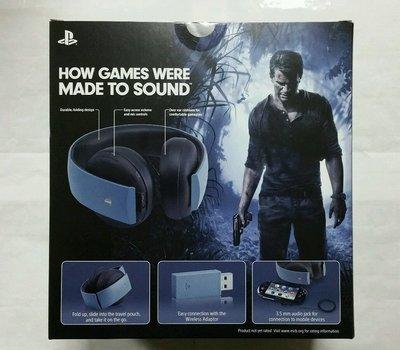 Uncharted 4限量版※台北快貨※美國原裝 Sony PlayStation Gold 無線耳機**App可設定