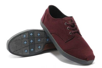 Miss ♥ Shoes -正品TOMS Burgundy Canvas Mens Paseos 帆布鞋【酒紅-男鞋】 台中市