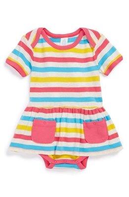 *小豆仔的屋Dou Dou House*美國進口stem baby有機棉童裝-彩霞條紋洋裝裙-size:18M(現貨)