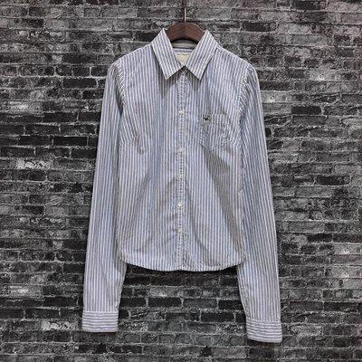 Maple麋鹿小舖 Hollister Co * HCO 海鷗條紋長袖襯衫 * ( 現貨S號 )