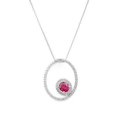 【JHT金宏總珠寶/GIA鑽石專賣】0.92ct天然紅寶鑽墜/材質:18K(R00032)
