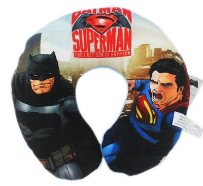 【卡漫迷】 超人 蝙蝠俠 頸枕 主角 ㊣版 DC漫畫 batman superman U型枕 車用 午休枕 午安枕