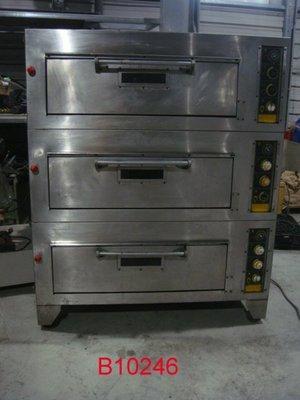 【全冠】二手三層食品專業用烤箱 烘箱 最上層需維修 下二層正常 便宜賣 AC220V三相電 (B10246)