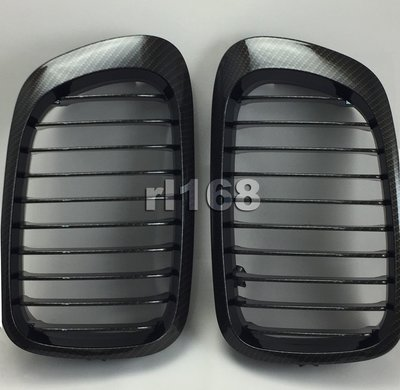 For E46 M3 CARBON LOOK 水轉印 98-01 GRILLES  水箱罩