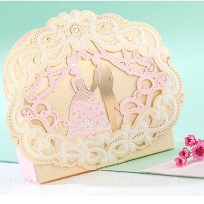 ❤ 1克拉❤ 婚禮小物 歐式粉色王子公主造型高質感喜糖盒  禮品包裝盒 【80個起】婚禮糖果盒婚慶用品手工皂化妝品包裝盒
