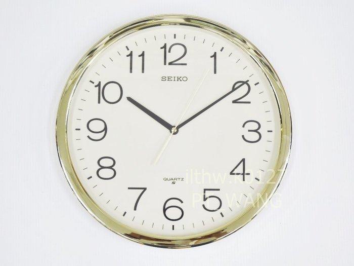 《《 PT屏信時計 》》日本 精工SEIKO 金框 標準款 時鐘 掛鐘 QXA 020、QXA020A (有靜音秒針款)