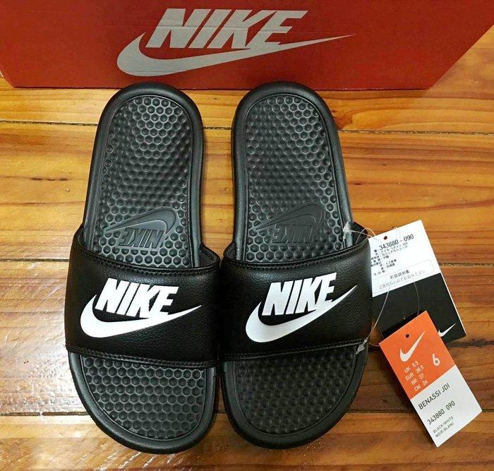 【Simple Shop】現貨 NIKE LOGO 拖鞋 運動拖鞋 GD款 23~31CM 黑色 343880-090