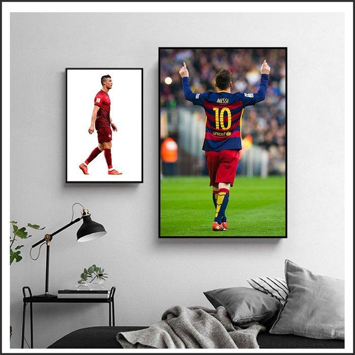 日本製畫布 電影海報 世足 梅西 Messi C羅 內馬爾 掛畫 無框畫 @Movie PoP 賣場多款海報#