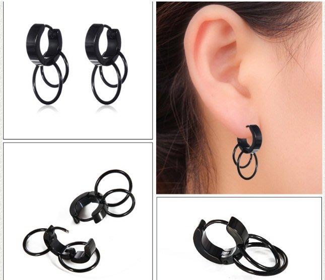 優質 鈦鋼 韓版 耳環  1入 男女潮 耳釘 鈦鋼 耳夾