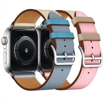 諾度適用蘋果iwatch表帶44mm4240mm38真皮愛馬仕iphone