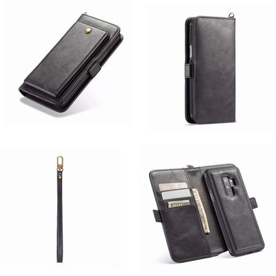 適用三星S9Plus/S8手機皮套商務高檔皮紋錢包式分體二合一保護套手機殼保護殼手機套保護套防摔全新