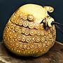 三腳蟾蜍招財小把件 賞件 竹衣美麗 天然竹雕重約133g  長約7.5cmX寬7cmX高6.5cm