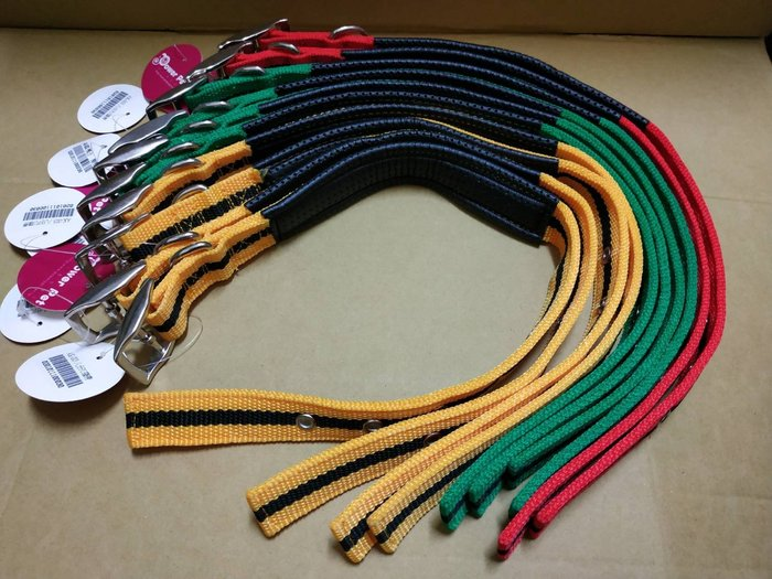 威力 LEO DOG 素色PU耐磨項圈 編織紋舒適頸圈 運動型安全脖圍 L號(中大型犬)每件180元