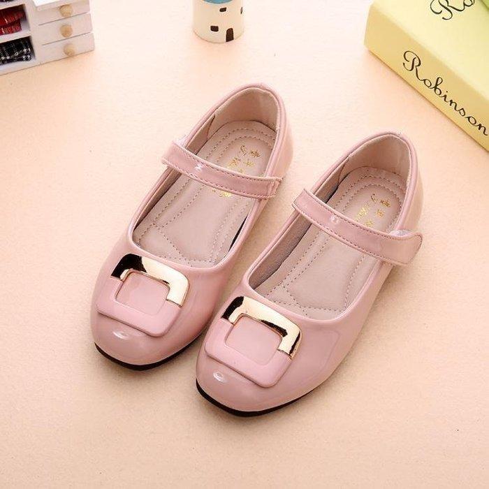 BELOCO 童鞋女兒童黑小皮鞋春秋新款女童公主鞋演出鞋學生豆豆鞋單鞋BE655