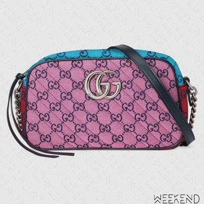 【WEEKEND】 GUCCI GG Marmont Small 小款 山形紋 肩背包 相機包 粉色 多色 447632