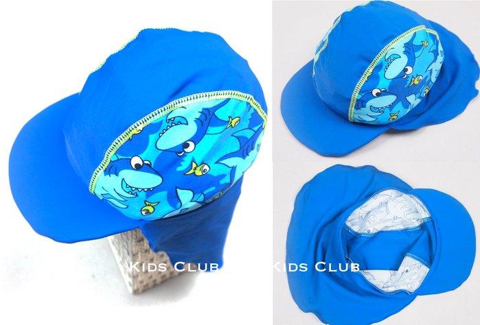 【Kids Club】6/29 英國品牌夏季女童男童兒童可愛鯊魚印花可調節抽繩護頸防曬游泳衣泳裝泳帽子