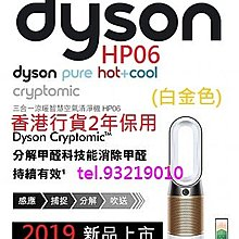 Hp06 dyson Pure Hot+Cool Cryptomic™ 三合一風扇暖風空氣清新機 (白金色)