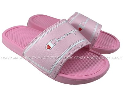 CHAMPION 拖鞋 運動拖鞋 方框 粉白 女生尺寸 # 923250266
