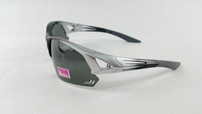 台灣製 美國 polarized寶麗來偏光眼鏡 太陽眼鏡運動眼鏡 防風眼鏡(大頭大臉型適用)型號9717銀灰/黑