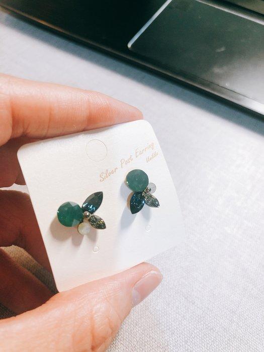出清特賣-百元系列-韓國製造,可愛綠色蝴蝶耳環