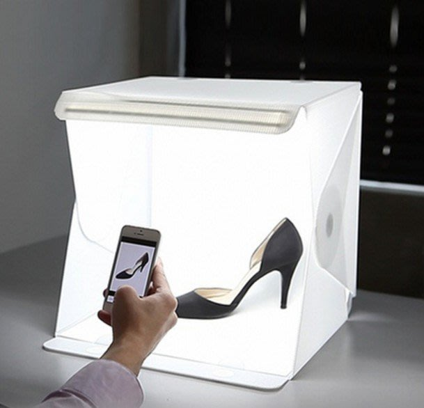 折疊攝影棚便攜式LED迷你攝影箱 柔光箱攝影燈箱小型簡易拍照箱(大)_找好物FINDGOODS