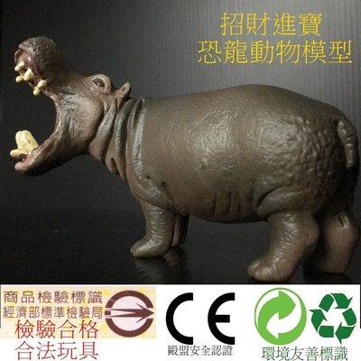 河馬 仿真動物玩具 模型玩具 野生動物園公仔收藏品 ZOO 兒童生日禮物另有售大象斑馬熊貓獅子企鵝羚羊北極熊恐龍AM05