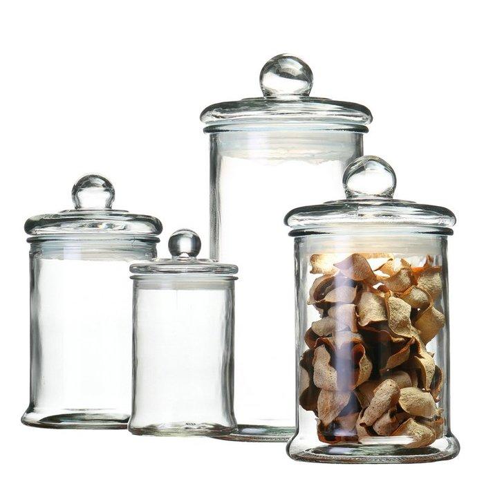 乾一玻璃儲物罐茶葉展示瓶藥材密封罐陳皮青柑防潮玻璃瓶貨架陳列罐