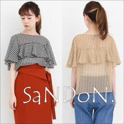 SaNDoN x『KBF』自留推薦 格紋復古波浪典雅荷葉邊襯衫上衣 URBAN RESEARCH 180504