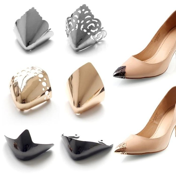 擴鞋器 鞋尖保護套防踢金屬頭保護鞋頭裝飾尖頭鞋高跟鞋破損修復遮瑕配件