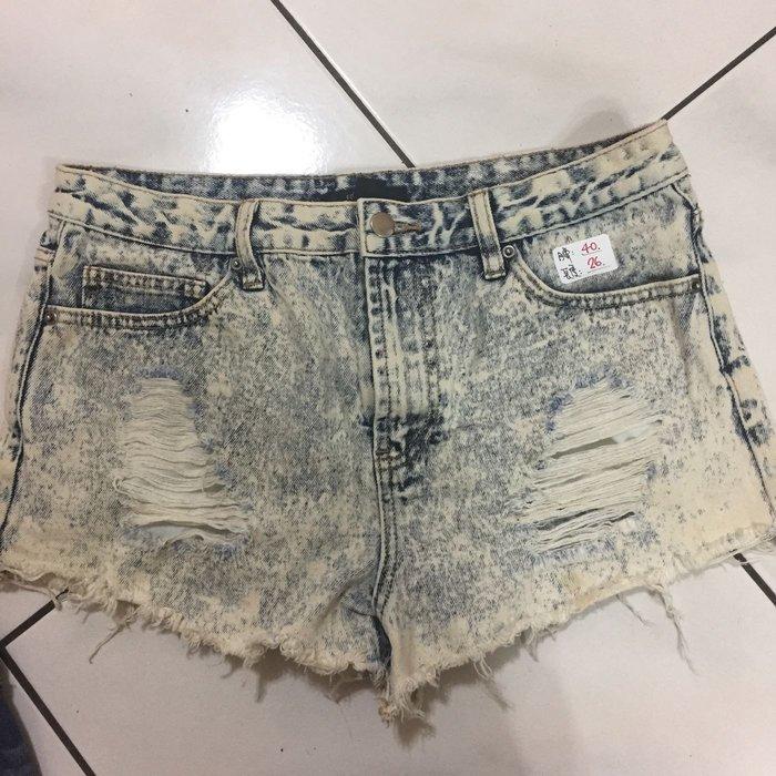 Forever 專櫃品牌❤️二手   時尚仿舊刷破刷白牛仔褲